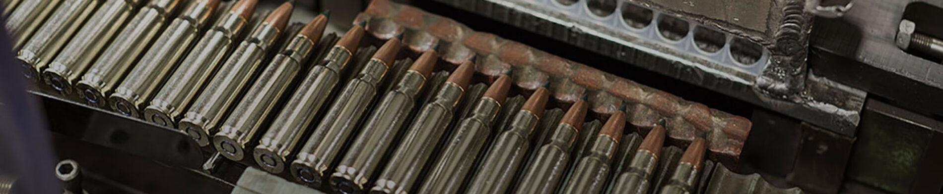 Ammunition on Conveyor