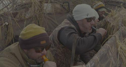 Hunters calling in waterfowl