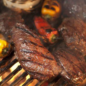 Grilled Steaks & Red Wine Glaze