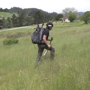 Dave Castro Hiking up a Hill
