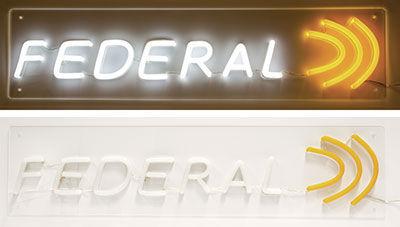 Federal LED Logo Sign