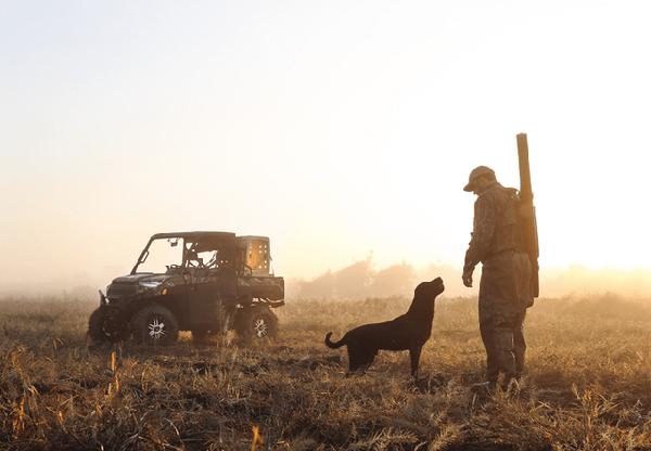 Nan Hunting with His Dog