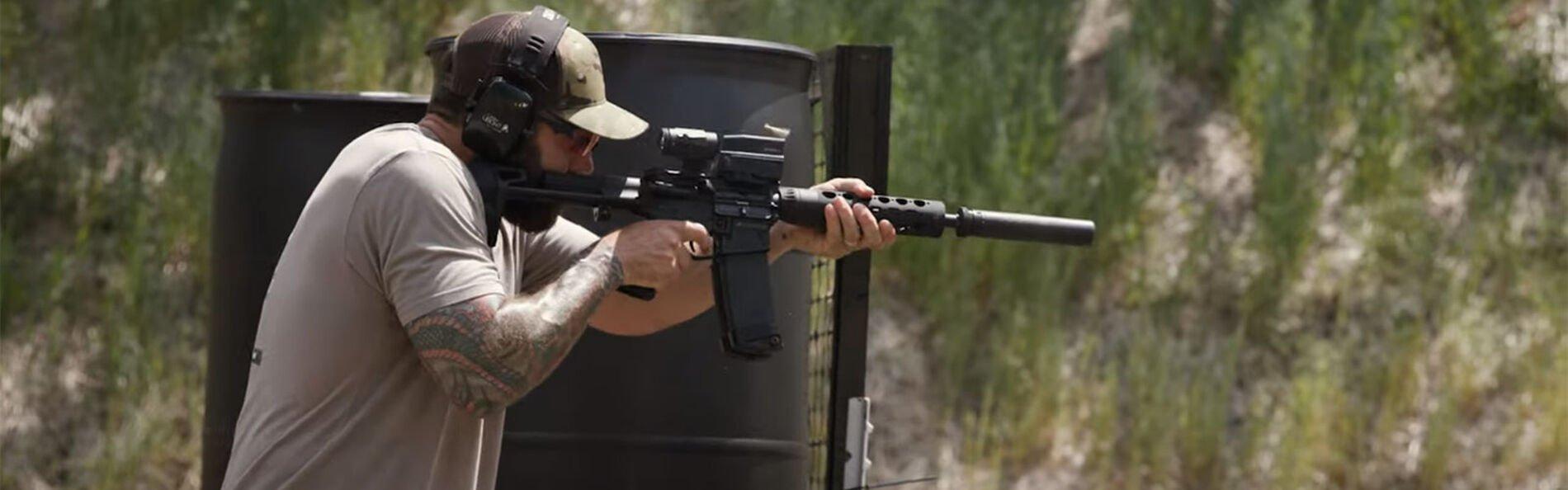 Josh Froelich discussing carbine accelerator drill