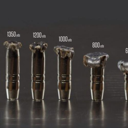 shot bullets from different ranges