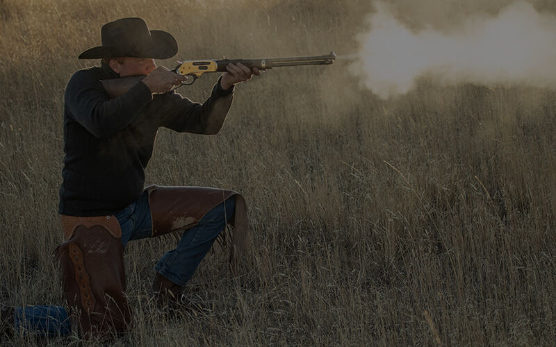 cowboy shooting rifle