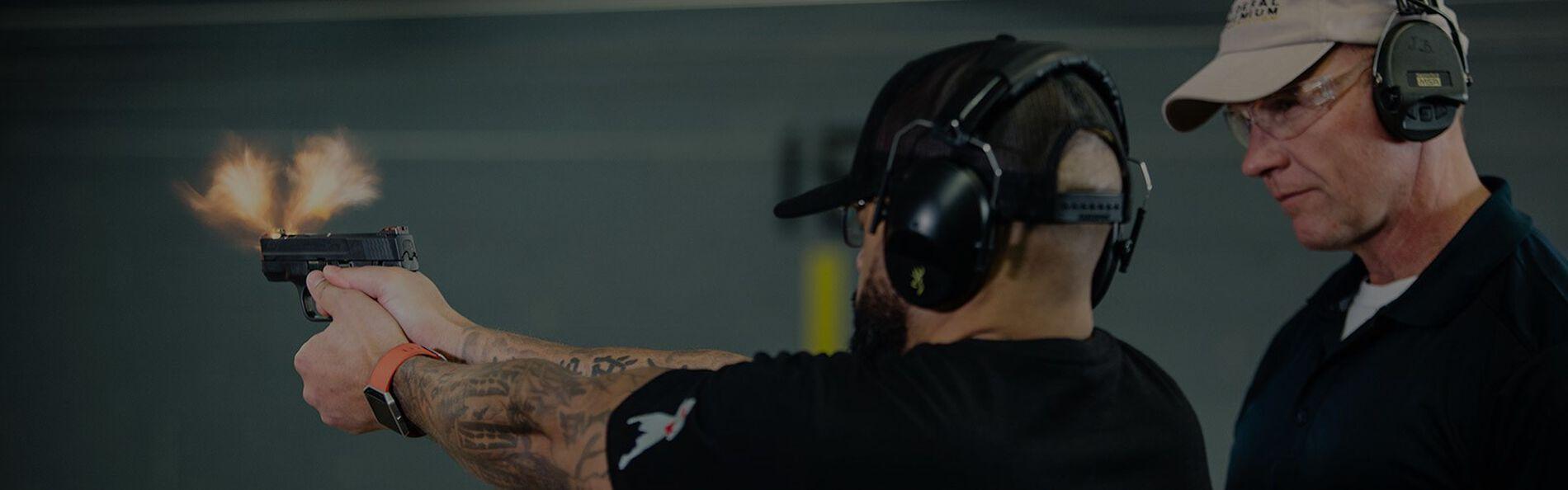 Female with Handgun