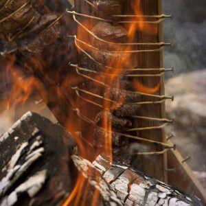 Plank Steak With Tequila Fire Glaze