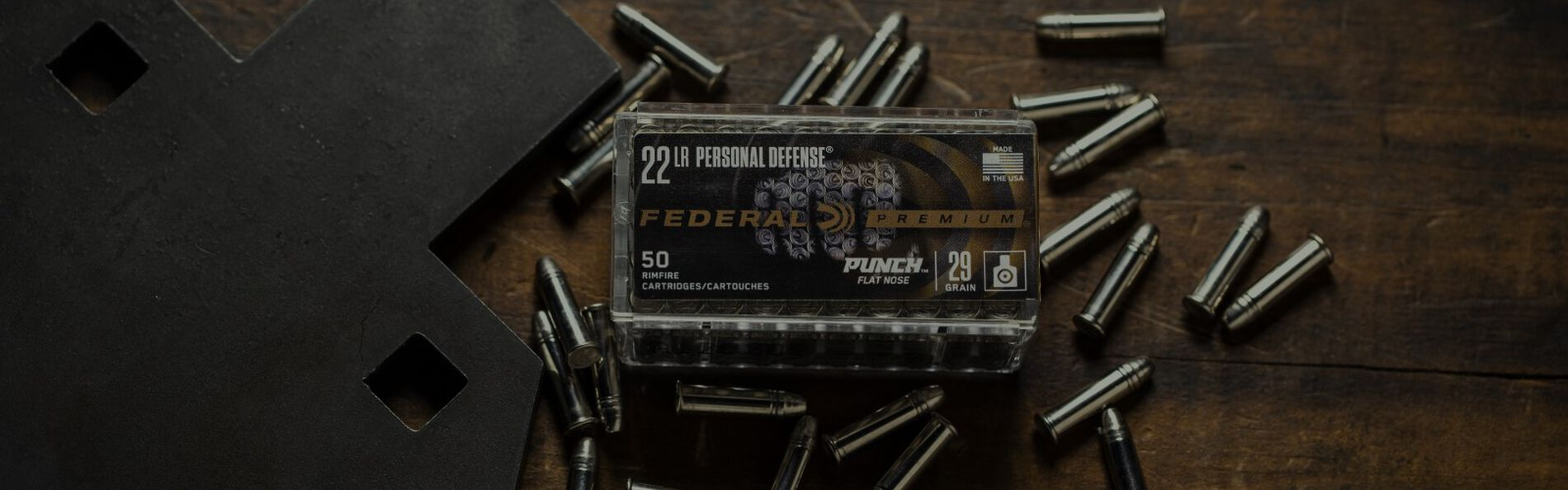 Punch 22 LR Packing on top of Punch 22 LR Cartridges