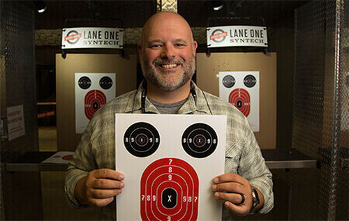 Man with Targets