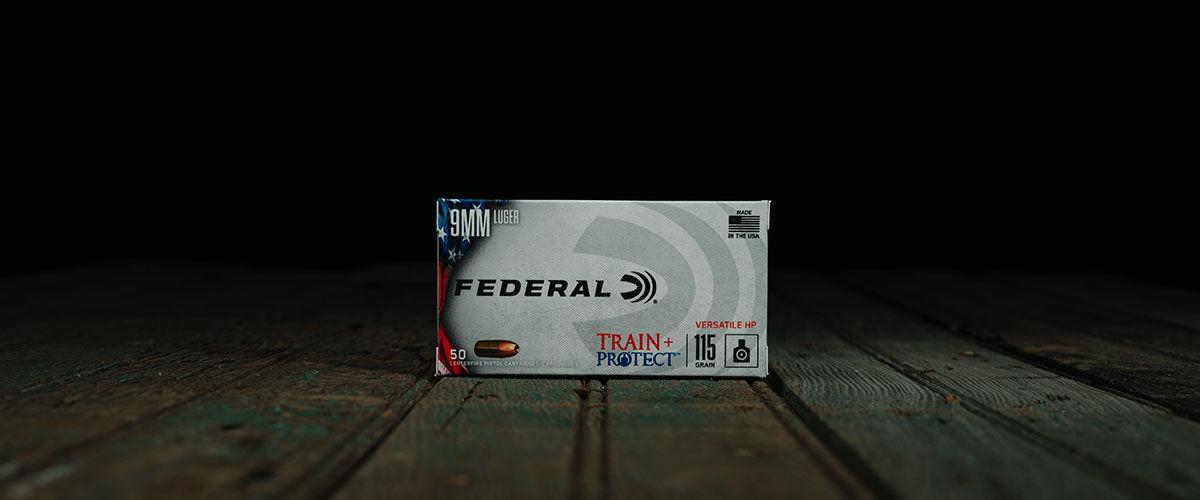 Federal Train + Protech 9mm 115 Grain