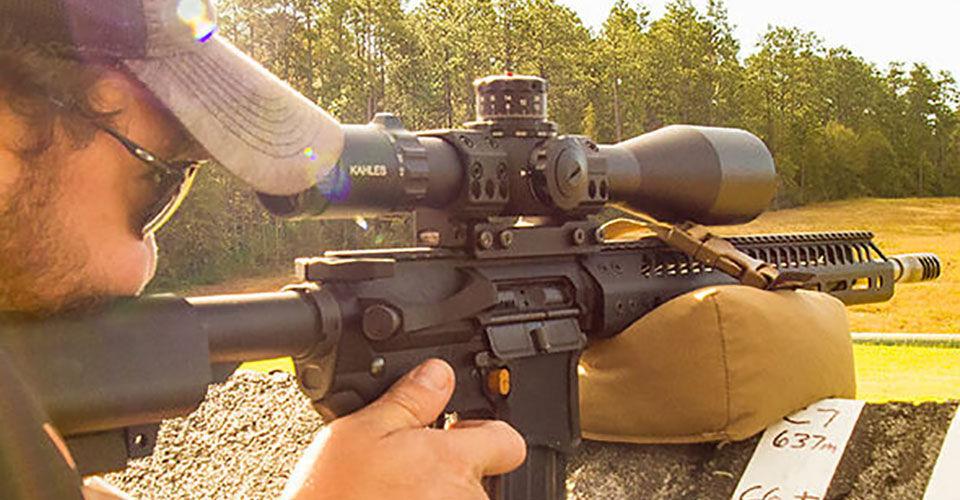 Jim Gilliland Shooting At Outdoor Range