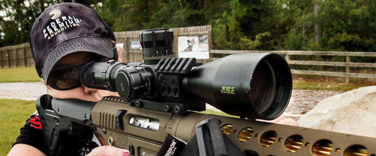 Missy Gilliland With Long Range Rifle