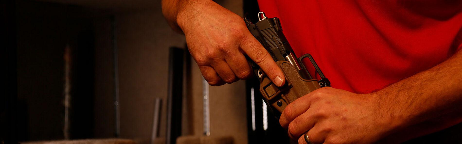 Handgun In Holster