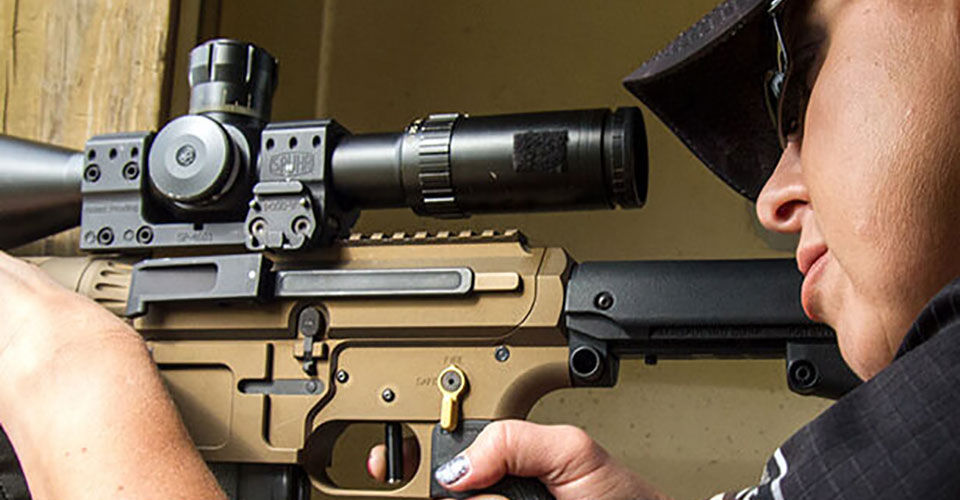 Shooting Long Range Rifle