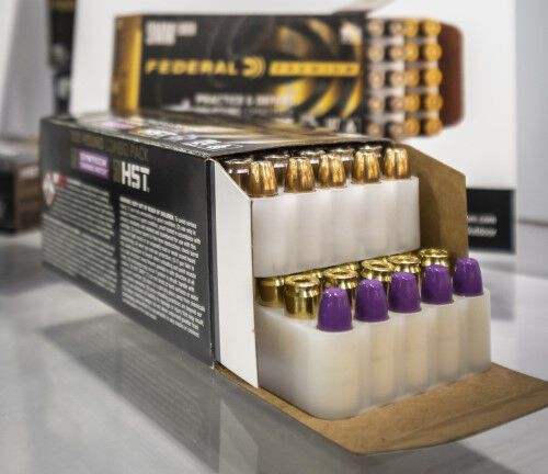 Practice and Defend Ammunition inside packaging