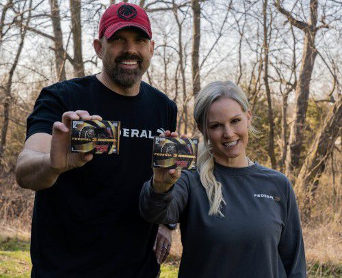 Lee and Tiffany holding federal tss ammo
