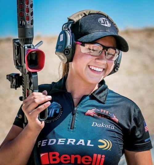 Dakota Overland Smiling after her win