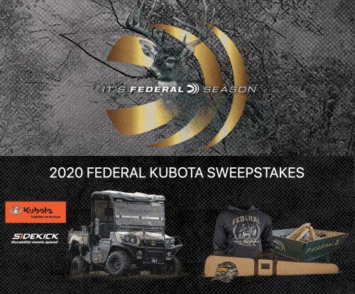 Federal Kubota Sweepstakes winner package