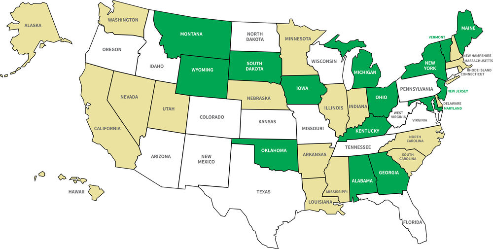 Legal FireStick States Map