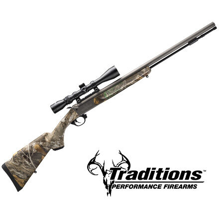 Traditions Logo and gun