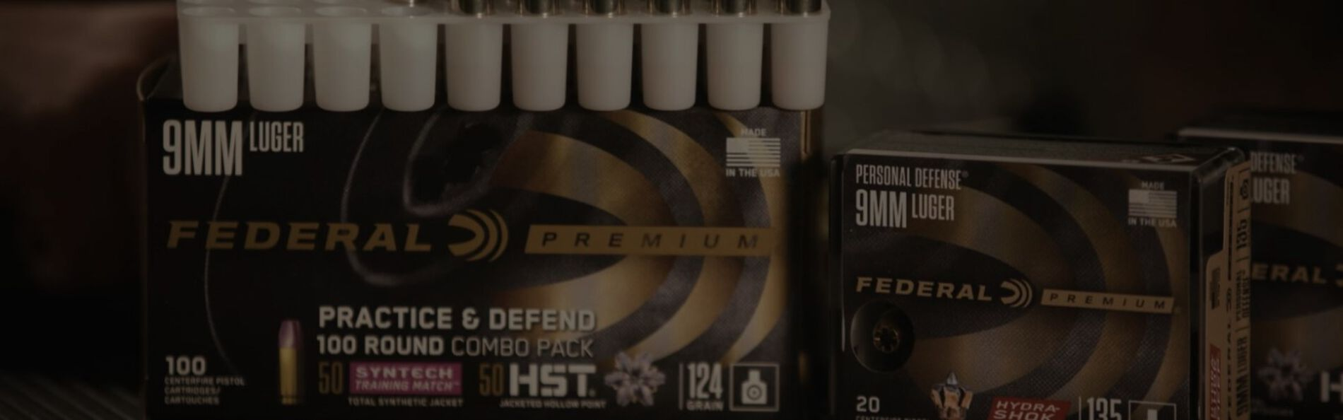 Federal Premium Ammunition packaging and cartridges