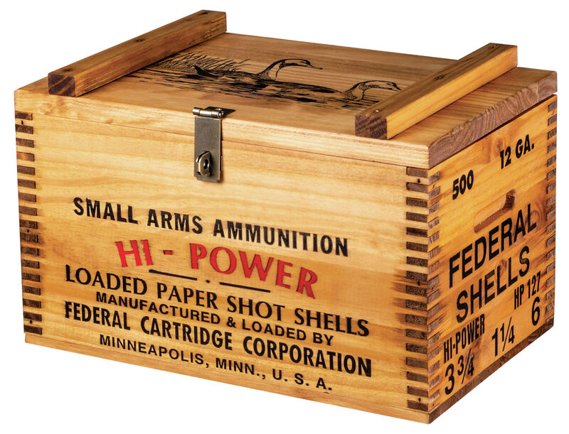 Federal Wooden Ammo Box