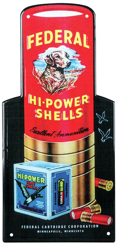 Federal Hi-Power Retro Tin Sign