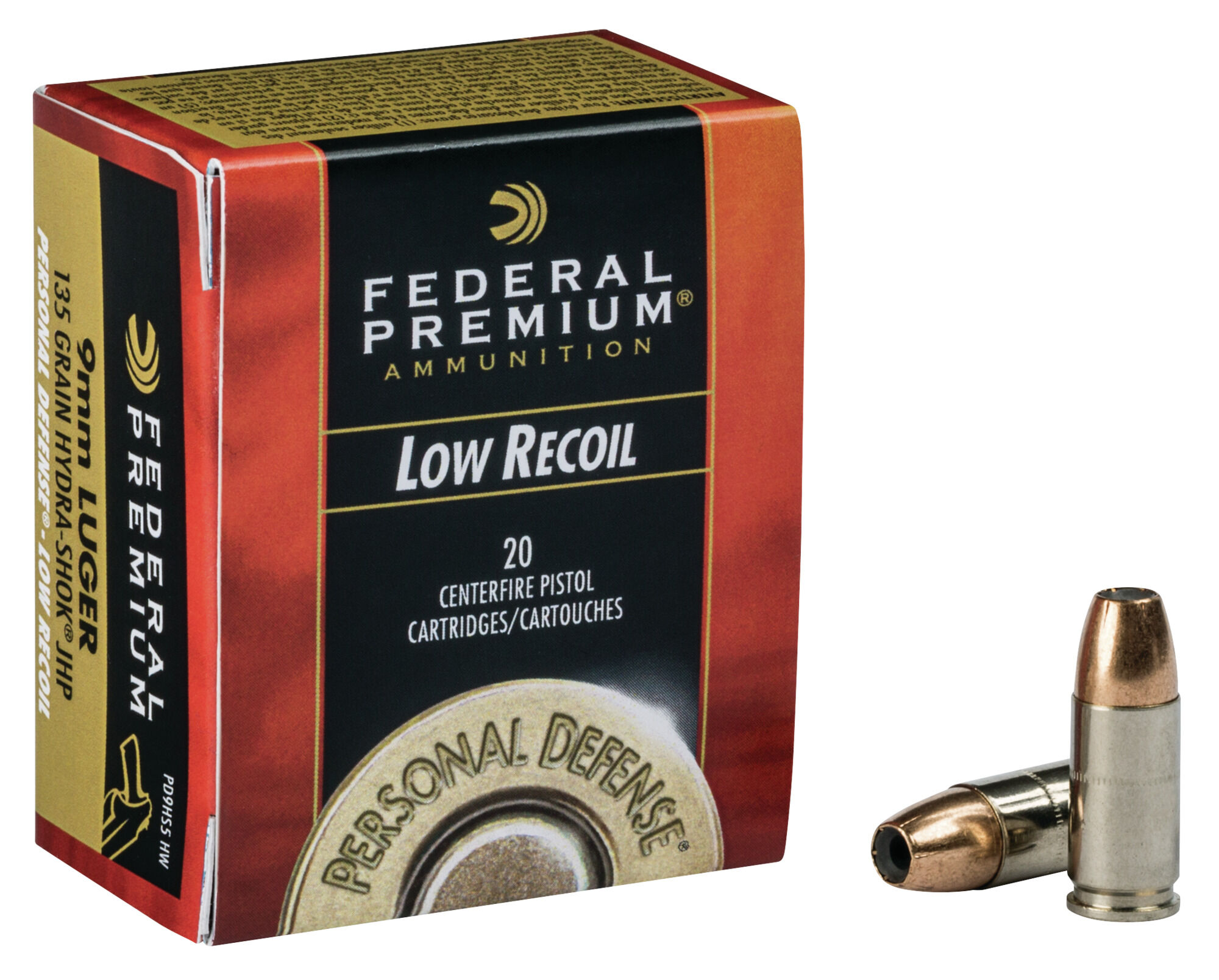45 acp hydra shok low recoil 9mm