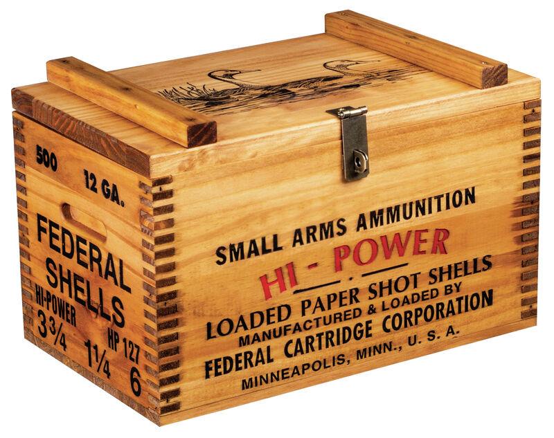 Federal Wooden Ammo Box