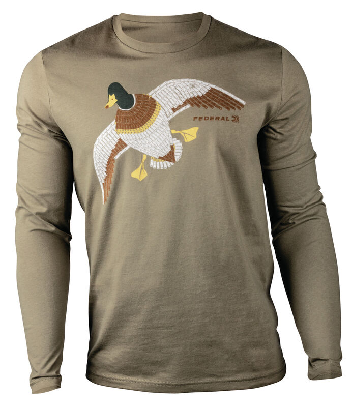 Federal/Hunt to Eat Mosaic Mallard Long Sleeve T-Shirt